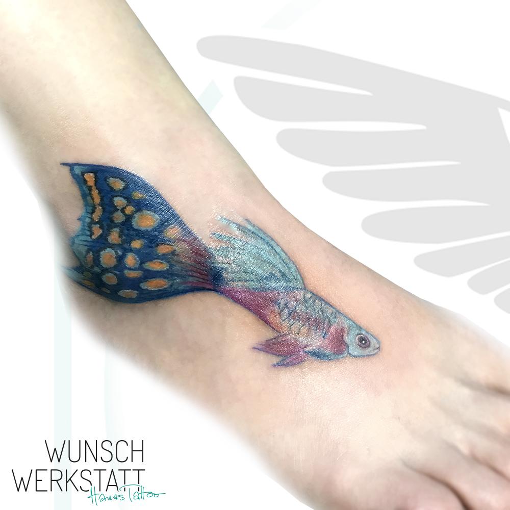 Tattoo Fisch bunte Farben