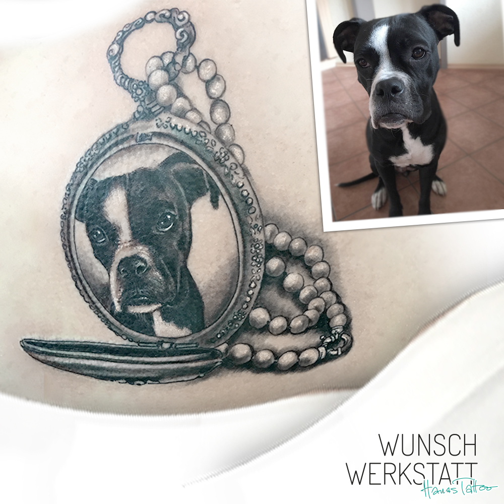 Tattoo Hund Medaillon
