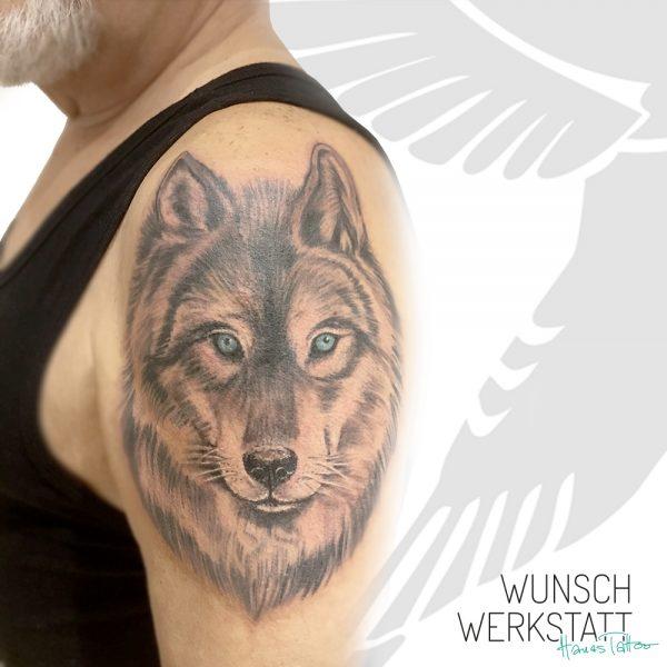 Wolfskopf Oberarm