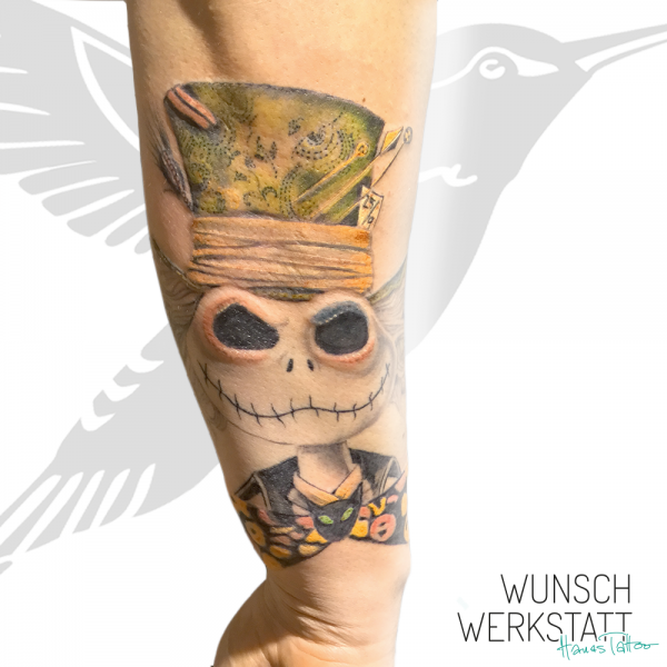 Jack Skellington Tattoo, Hutmacher, Alice im Wunderland