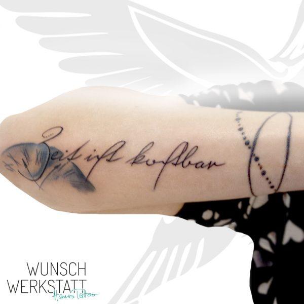 altdeutsches Tattoo Unterarm