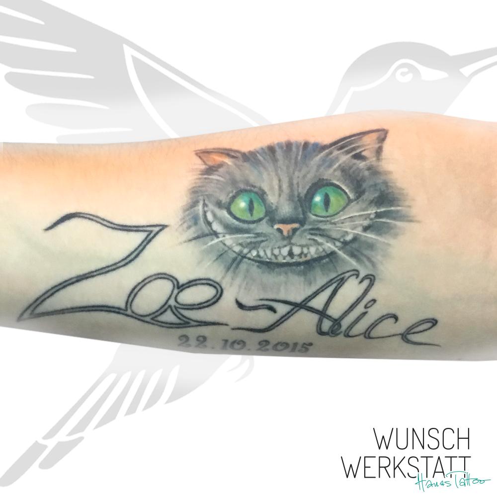 Tattoo Wunschwerkstatt Grinsekatze