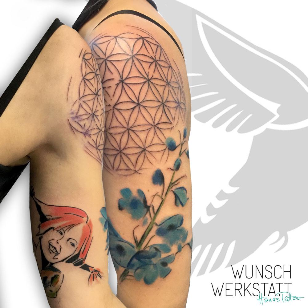 Hanas Tattoo Wunschwerkstatt Pipi Langstrumpf Lebensblume Mandala