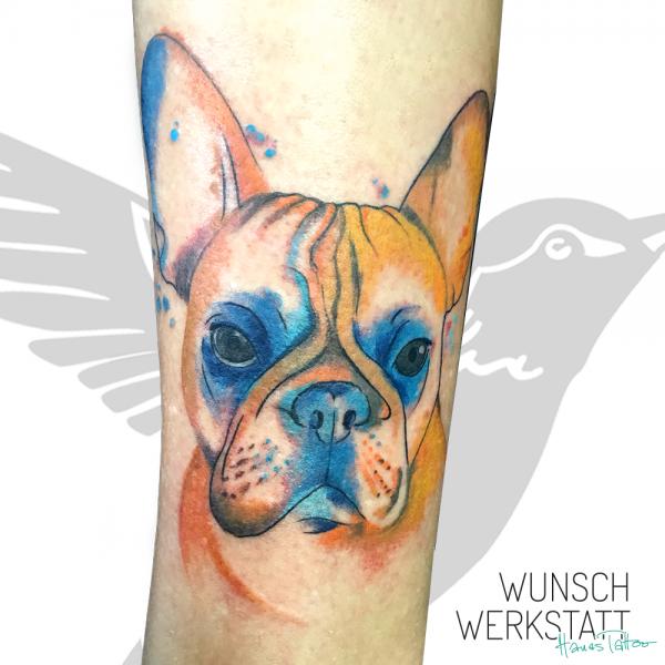 Hanas Tattoo Wunschwerkstatt französische Bulldogge