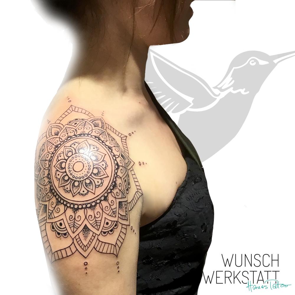 Henna Tattoo Mandala Schulter Hanas Wunschwerkstatt