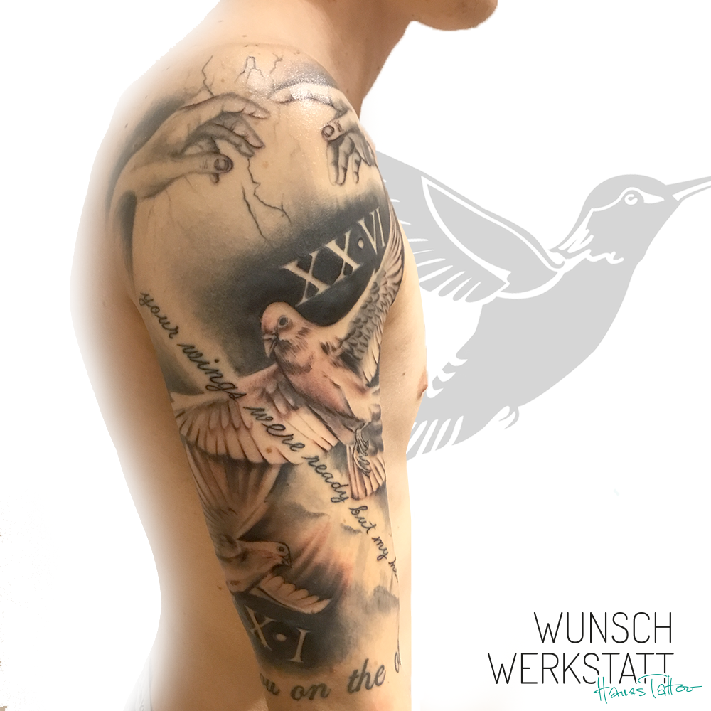 Tauben Tattoo Hanas Wunschwerkstatt