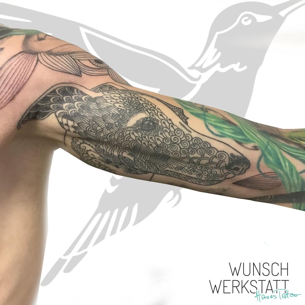 Muster-Tattoo am Innenarm Oberseite von Hanas Wunschwerkstatt
