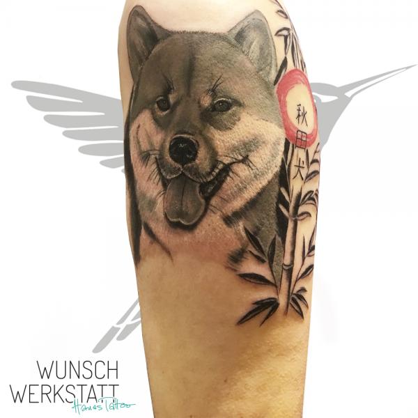 Hanas Tattoo asiatischer Hund