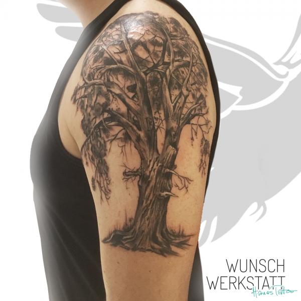 Tattoo Wunschwerkstatt Arm Baum