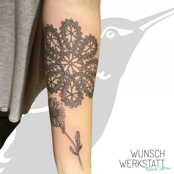 Tattoo Wunschwerkstatt Mandala auf Arm
