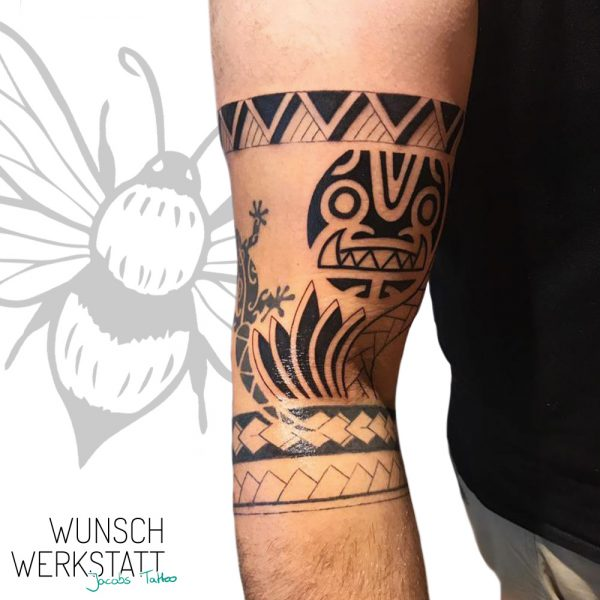 Wunschwerkstatt Jacob Tattoo Armbeuge Maori