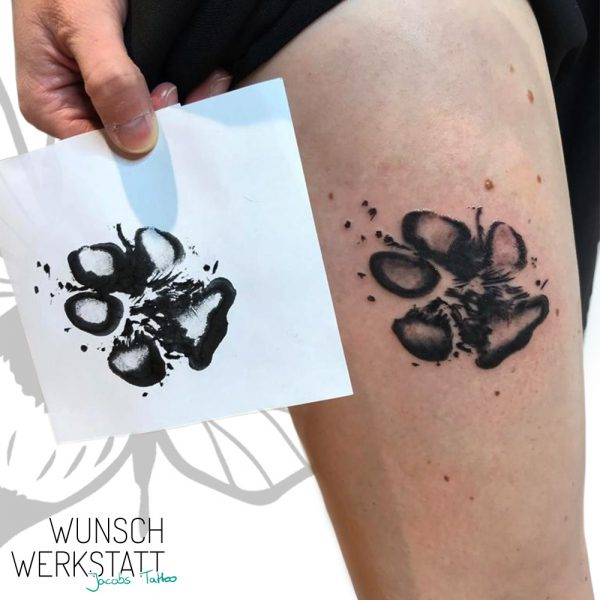 Oberschenkel Tattoo aus Hanas Wunschwerkstatt von Jacob